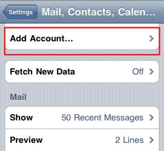 Gmail setup on  iphone