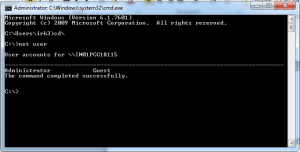 Windows Command prompt - password reset