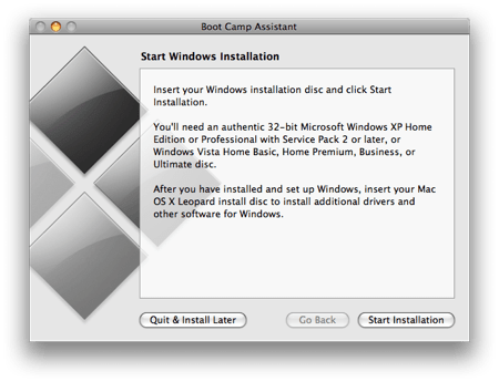 BootCamp Windows 7 Installation