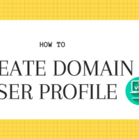 How to Create Domain user Profile over VPN
