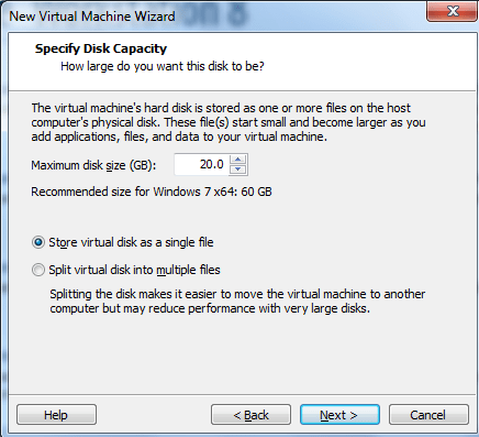Windows 8  virtual disk on Vmware
