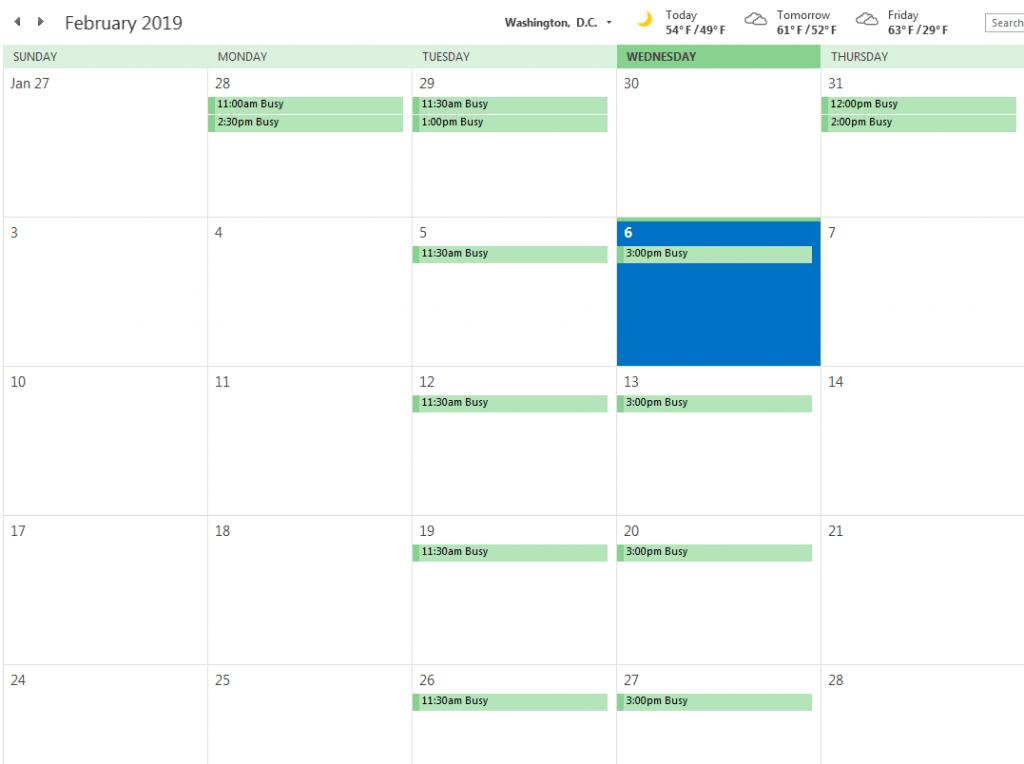 Meeting Room Calendar