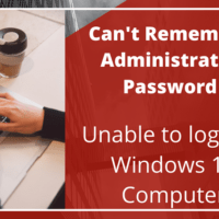 Windows 10 can't login with Administrator password
